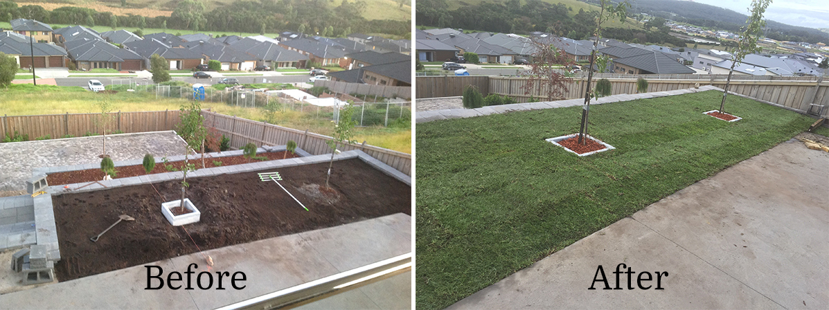 Instant Turf Melbourne - Before and After